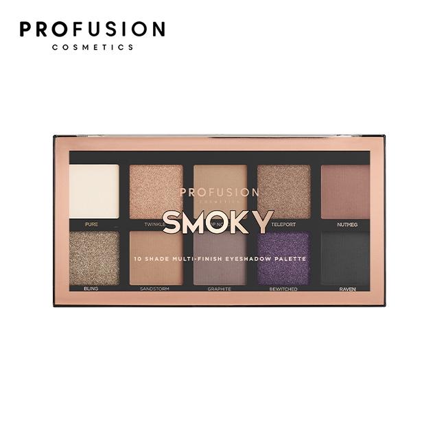 PROFUSION 10色眼影盤-撫媚煙燻 16g