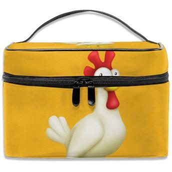 チキン 化粧ポーチ メイクポーチ コスメバッグ 収納 雑貨大容量 小物入れ 旅行用