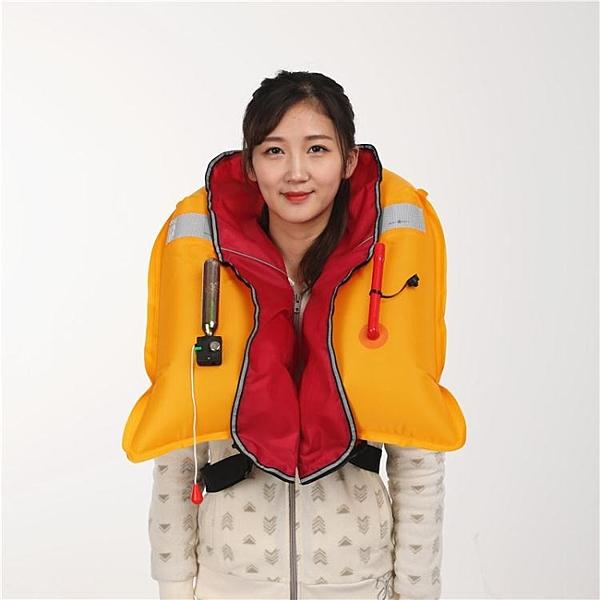 便攜式成人全自動充氣式救生衣專業釣魚氣脹式船用手動充氣救生衣  【快速出貨】