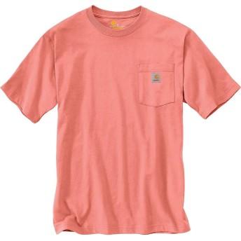 carhartt(カーハート) トップス Tシャツ Carhartt Men's Workwear Pocket SS T Shir Coral Haze メンズ [並行輸入品]