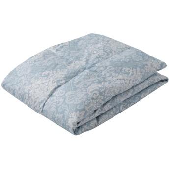 東京 西川の高級 ダウンケット (羽毛肌掛け布団) シングル ダックダウン70% 洗える 軽やか 抗菌防臭 クレセント ブルー KE09005002B2