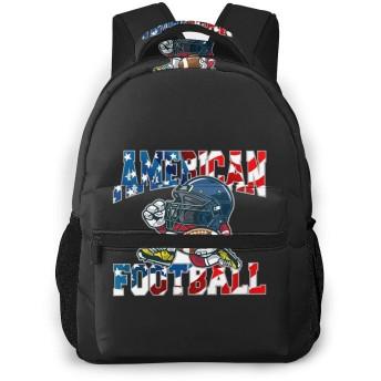 リュックサック アメリカ フットボール ラグビー 通学 バックパックCasual Backpack シンプル カジュアル 通勤 デイバック 大容量 PCバッグ キャンバス ママリュック ママバッグ 高校生 男女兼用