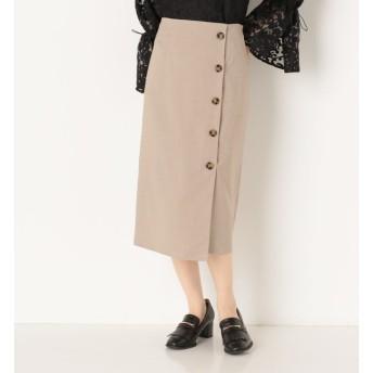 【アルシーヴ/archives】 ラップボタンチェックタイトスカート