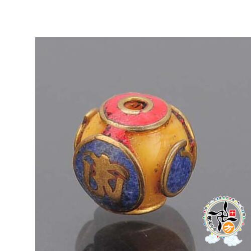 嗡 藏式手工蜜納珠  配件1個十方佛教文物