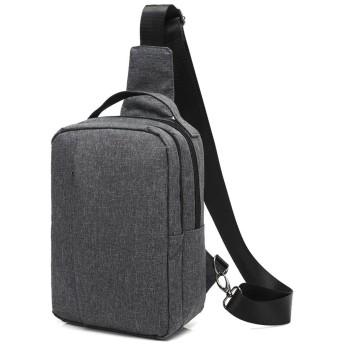 LEEUW (レーヴ) ボディバッグ ワンショルダー 斜めがけ 普段使い 左肩掛け対応 メンズ 全3色 (ダークグレー)