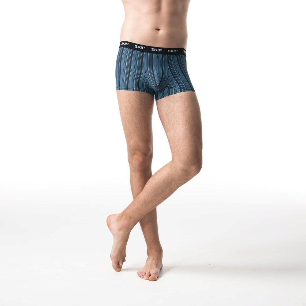 skip精品---鍺離子男平口褲(藍)