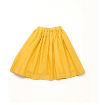 【COMME CA ISM:スカート】【洗える】 ギャザー ミモレ丈 スカート