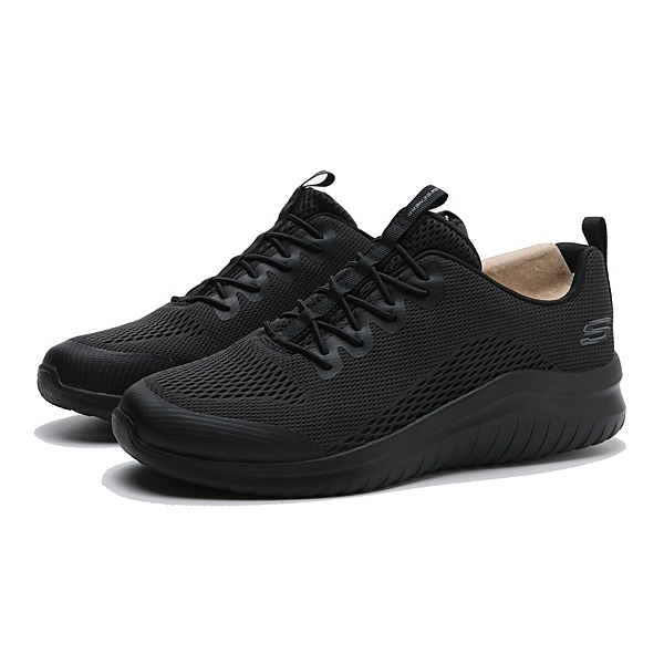 SKECHERS ULTRA FLEX 2.0 全黑 記憶鞋墊 鬆緊帶 健走 休閒鞋 男 (布魯克林) 52767WBBK