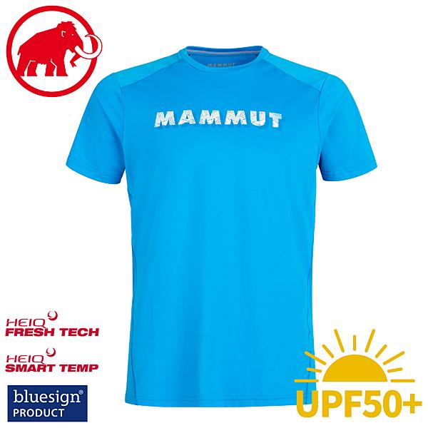【MAMMUT 長毛象 Splide Logo T-Shirt 男短袖衫《龍膽花》】1017-00222/休閒短袖