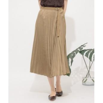 SENSE OF PLACE(センスオブプレイス) スカート スカート サテンプリーツロングスカート