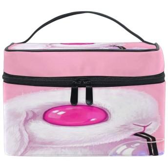 面白い動物のウサギのパターン 化粧ポーチ 旅行用化粧品バッグ 大容量 旅行 化粧 ポーチ 収納