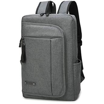 リュックサック バックパック ビジネスリュック メンズ PCバッグ ラップトップ 15.6インチノートPC収納 撥水加工 (グレー)