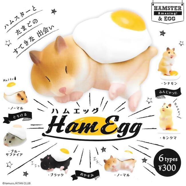 全套6款 倉鼠雞蛋公仔 扭蛋 轉蛋 模型 kitan 奇譚譚 日本正版302520