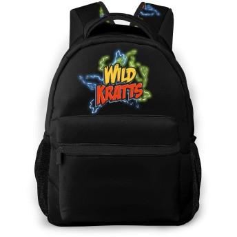 Wild Kratts1 男女兼用 おしゃれ 大容量 多機能 リュックサック 防水 リュック ビジネスリュック アウトドア バックパック 登山リュック 人気 高校生 大学生 通勤 通学 デイュック カスタム 個性的なリュックサック