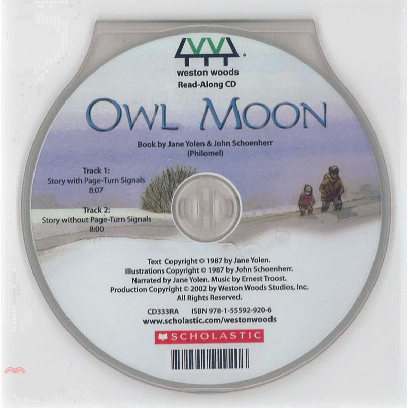 Owl Moon (1CD only) 廖彩杏老師推薦有聲書第2年第3週【三民網路書店】[66折]