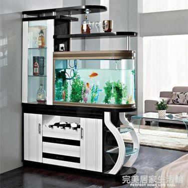 簡約現代進門客廳玄關帶魚缸酒櫃屏風隔斷間廳雙面鞋櫃門廳裝飾櫃