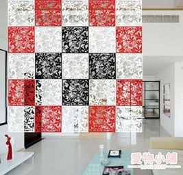 屏風 掛式拉簾簾子房間美容院屏風隔斷時尚推拉折疊移動省空間裝飾臥室