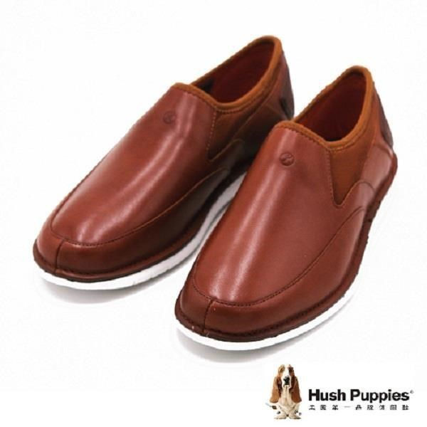 Hush Puppies 復古簡約直套式懶人鞋 休閒鞋 男款 棕