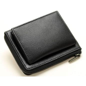[メンズ カンパニー]Men's company コインケース ボックス型 メンズ 財布 (ブラック)