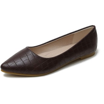 [W.L.M] レディース フラット シューズ ポインテッドトゥ 靴 ローヒール パンプス JP3381863-zong-41