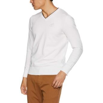 [アディダスゴルフ] ジャカード Vネックセーター CCS50 メンズ ホワイト 日本 O (日本サイズXL相当)