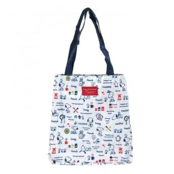 全2カラー スヌーピー カゴバッグ 保冷バッグ レジカゴ 折り畳み可能 お買い物バッグ 大容量 巾着|b01