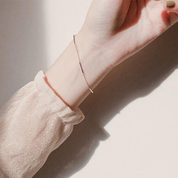 手鍊 銀網紅冷淡風手鍊ins小 設計女韓版簡約學生森系閨蜜個性手飾潮