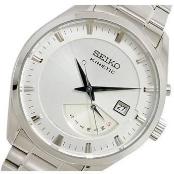 セイコー SEIKO KINETIC クオーツ メンズ 腕時計 SRN043P1 シルバー