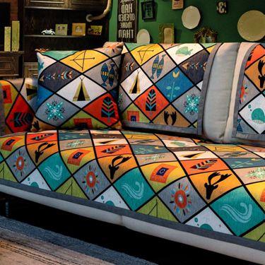 北歐沙發墊簡約現代時尚四季通用客廳真皮防滑高檔萬能全包套罩