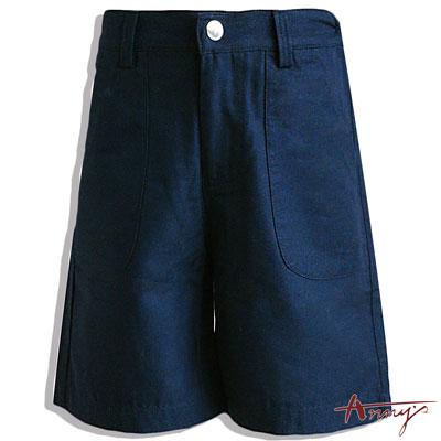 Annys帥氣正式素面超百搭短褲*3392藍