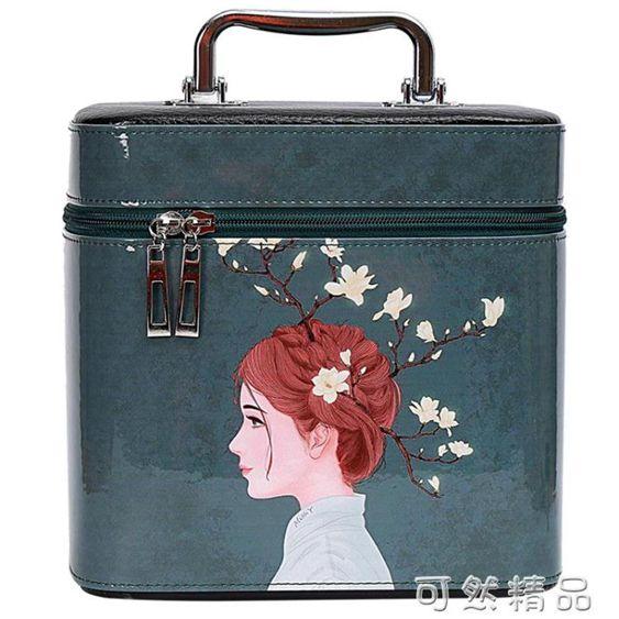 新款韓版可愛化妝包簡約時尚化妝箱大容量少女心化妝品包便攜旅行