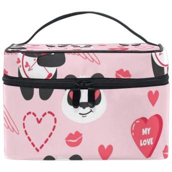 ヴァレンティエンハートアニマルパンダ 人気 化粧 ポーチ 化粧品収納バッグ 大容量 旅行 化粧キット