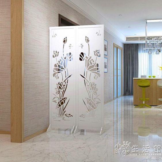 屏風隔斷牆扇折屏玄關臥室時尚客廳現代簡約酒店中式行動折屏座屏HM