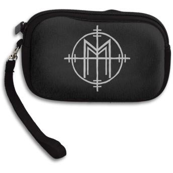 Marilyn Manson マリリン・マンソン 小さい財布 イヤホンケース ミニボックス ケース 収納袋 コイン 小物整理 薄い財布 ミニ財布 シンプル ミニバッグ
