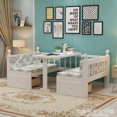 實木沙發床兩用多功能可摺疊1.5雙人小戶型網紅款書桌床榻榻米床