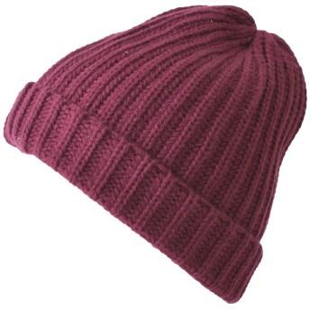 Casualbox ニット帽 [ フリーサイズ/エンジ ] ニットキャップ ビーニー 秋 冬 ベーシック 無地