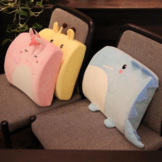 可愛椅子腰墊腰枕靠枕腰靠辦公室靠揹抱枕記憶棉汽車護腰靠墊女生