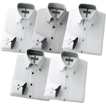 ベルーナ 【5枚組】<マック ボガード>形態安定こだわり定番デザインシャツ S メンズ