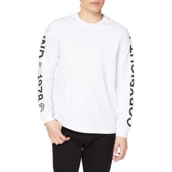 (ディーゼル) DIESEL メンズ Tシャツ 長そで ロゴ 00SEF80091A S ホワイト 100