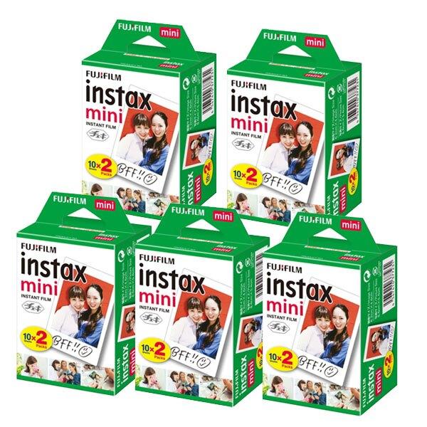FUJIFILM Instax mini 富士拍立得底片 空白底片 【5盒組合】一盒兩捲裝 共100張 mini8 MINI9 MINI25 24H快速出貨