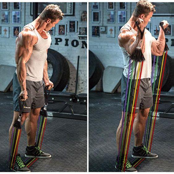 拉力繩健身男力量訓練彈力阻力帶拉力器擴胸器健身器材家用彈力繩??