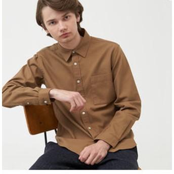 【AIGLE:トップス】ドビー 長袖無地シャツ