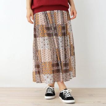 SHOO・LA・RUE/Cutie Blonde(シューラルー/キューティーブロンド)/オリエンタルパッチワーク柄スカート