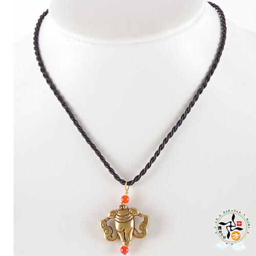 法螺{銅}2.4*2.8公分項鍊十方佛教文物