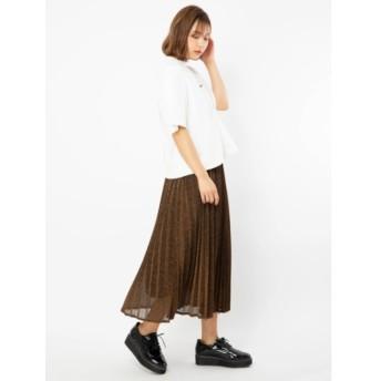 【セシルマクビー/CECIL McBEE】 ラメプリーツスカート