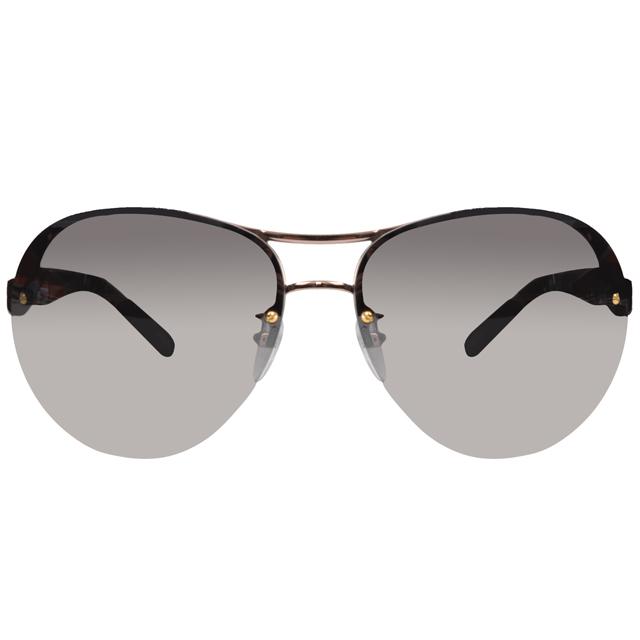 LOEWE 羅威品牌經典鍊鎖設計款太陽眼鏡(黑/金 SLW379-0A32)