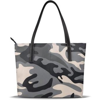 カモフラ柄 迷彩柄 カモフラージ柄 カモフラージュ柄 ブラック (2) 女性 ショッピングバッグ 防水 学校