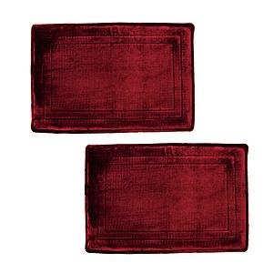(組)加厚釋壓記憶綿踏墊40x60cm 緋紅X2
