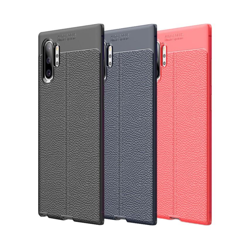 Samsung Note10+ Note10 Note9 Note8 荔枝紋保護殼皮革紋造型超薄全包手機殼背蓋