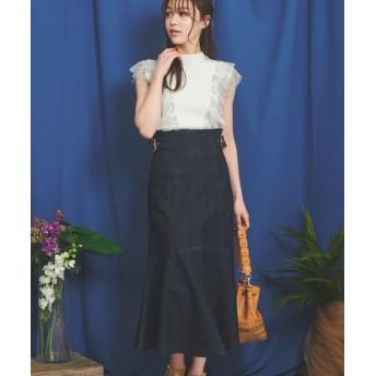 (Noela/ノエラ)裾フレアスカート/レディース インディゴ